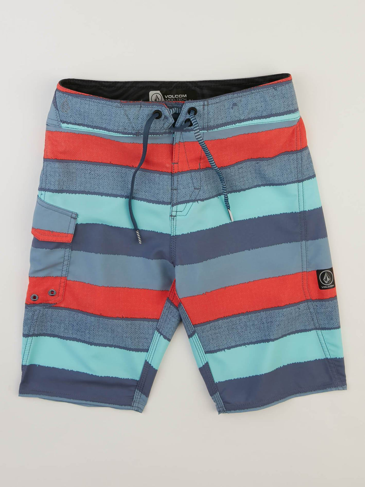 Big Boys Magnetic Liney Mod Boardshorts In Wrecked Indigo, Front View