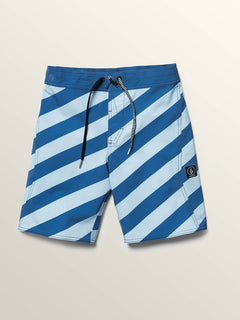 Big Boys Stripey Elastic Boardshorts