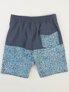 Big Boys Vibes Elastic Boardshorts In Deep Blue, Back View