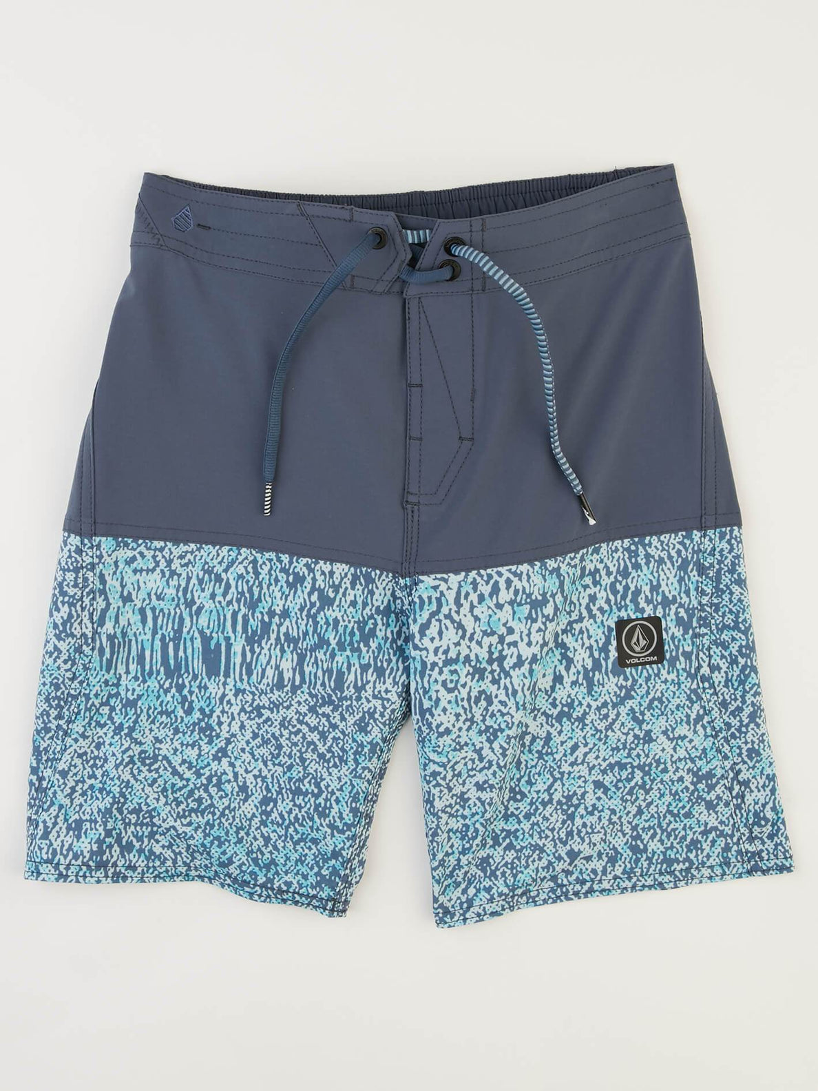 Big Boys Vibes Elastic Boardshorts In Deep Blue, Front View