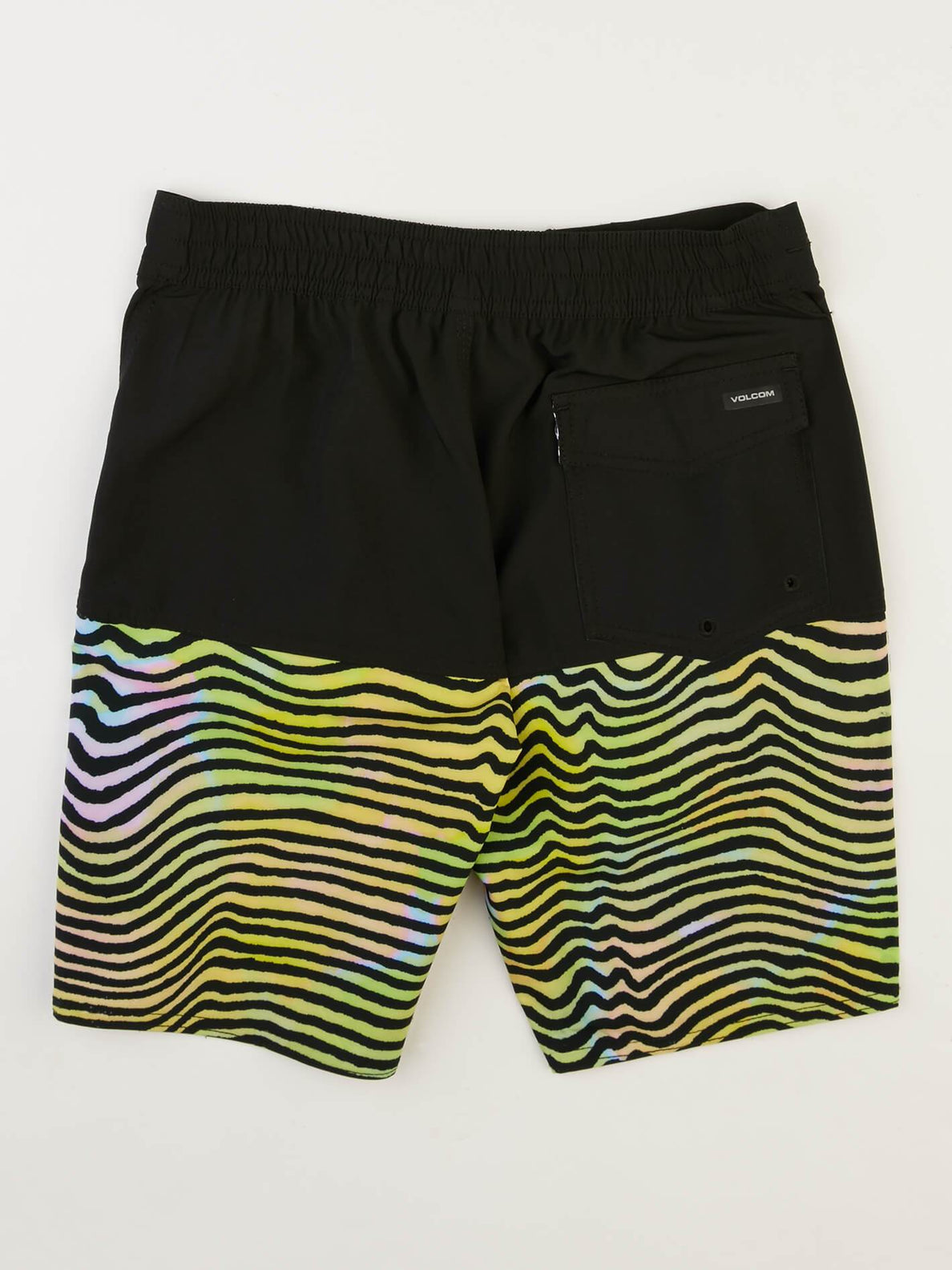 Big Boys Vibes Elastic Boardshorts In Multi, Back View