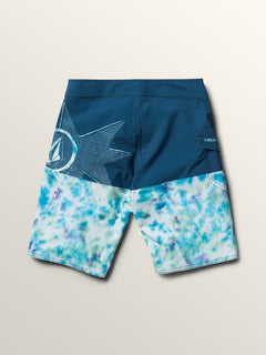 Big Boys Lido Block Mod Boardshorts In Multi, Back View