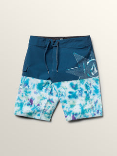 Big Boys Lido Block Mod Boardshorts In Multi, Front View