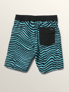 Big Boys Mag Vibes Elastic Boardshorts In Blue Bird, Back View