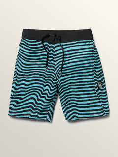 Big Boys Mag Vibes Elastic Boardshorts In Blue Bird, Front View