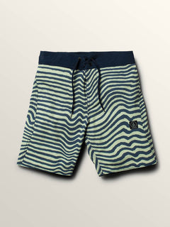 Big Boys Mag Vibes Elastic Boardshorts In Mist Green, Front View
