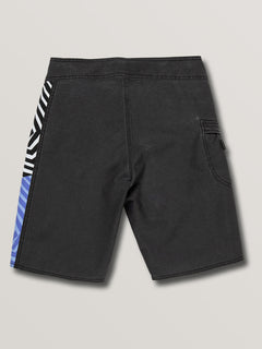 Big Boys Family Deadly Mod Boardshorts In Black, Back View