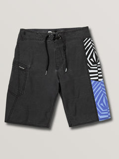 Big Boys Family Deadly Mod Boardshorts In Black, Front View