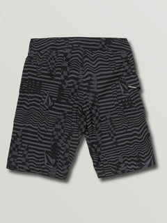 Big Boys Logo Shifter Mod Boardshorts In Asphalt Black, Back View