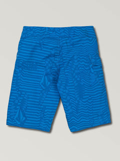 Big Boys Logo Shifter Mod Boardshorts In Free Blue, Back View
