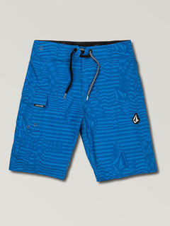 Big Boys Logo Shifter Mod Boardshorts In Free Blue, Front View