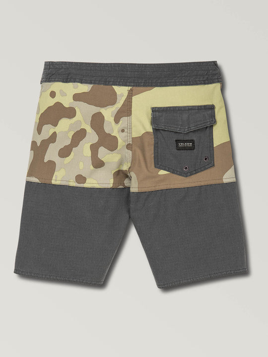 Big Boys Vibes Boardshorts In Camouflage, Back View
