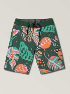 Big Boys Scrap Boardshorts In Cedar Green, Front View