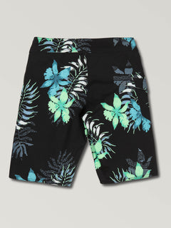 Big Boys Wave Fayer Mod Boardshorts In Black, Back View