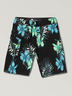Big Boys Wave Fayer Mod Boardshorts In Black, Front View