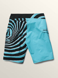 Big Boys Lido Block Mod Boardshorts In Blue Bird, Back View
