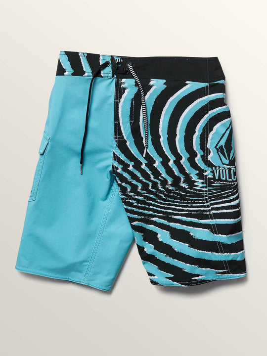 Big Boys Lido Block Mod Boardshorts In Blue Bird, Front View