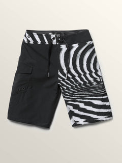 Big Boys Lido Block Mod Boardshorts In New Black, Alternate View