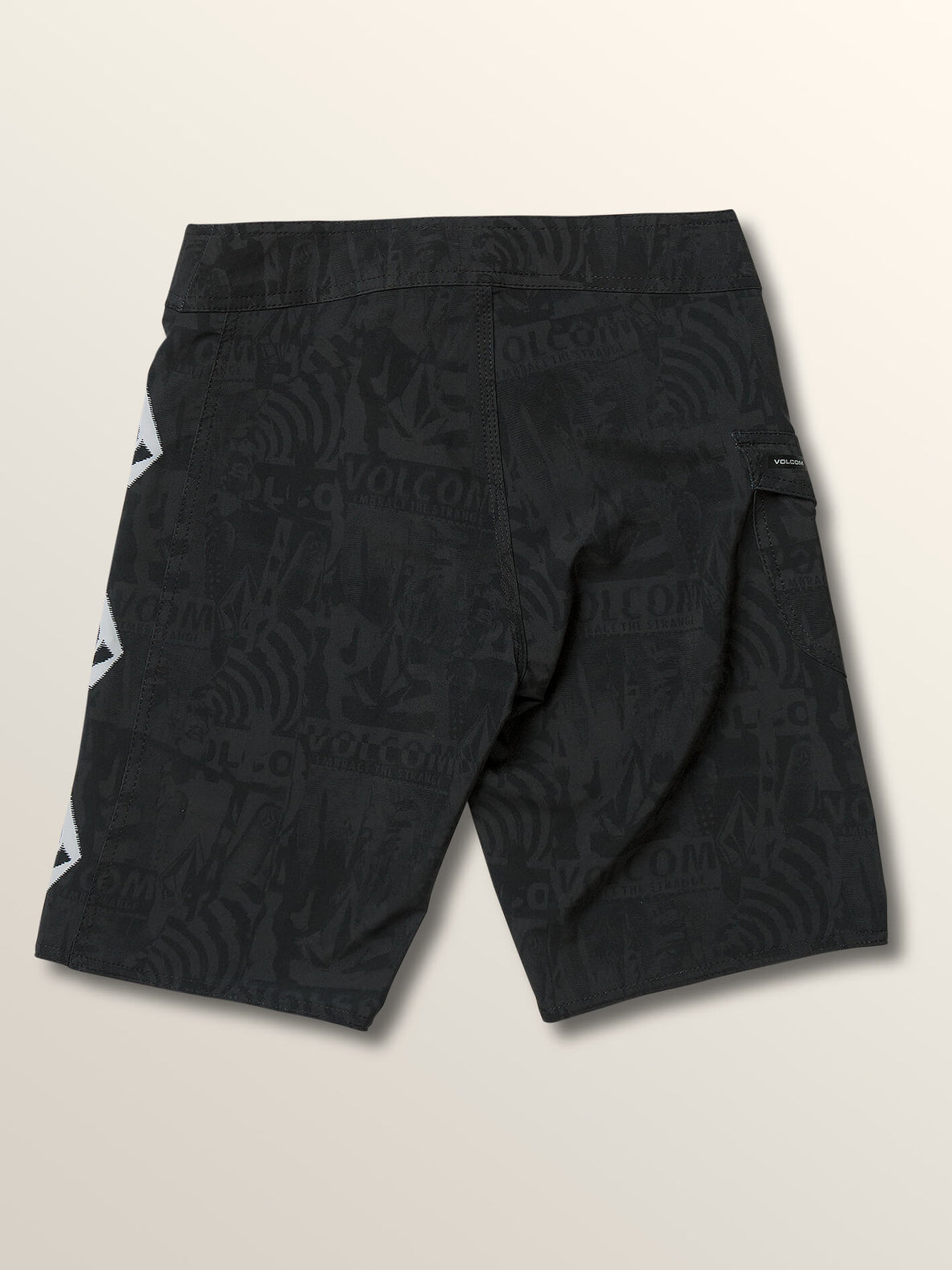 Big Boys Deadly Stones Mod Boardshorts In Black, Back View