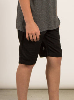 Big Boys Frickin Chino Shorts In Black, Alternate View