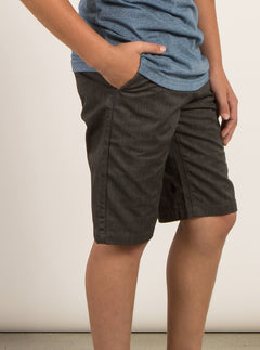 Big Boys Frickin Chino Shorts In Charcoal Heather, Alternate View