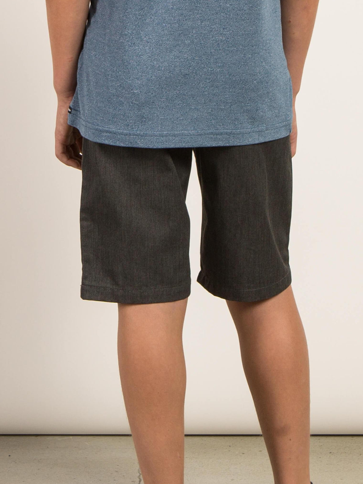 Big Boys Frickin Chino Shorts In Charcoal Heather, Back View