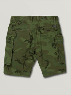 Big Boys Gritter Cargo Shorts In Camouflage, Back View