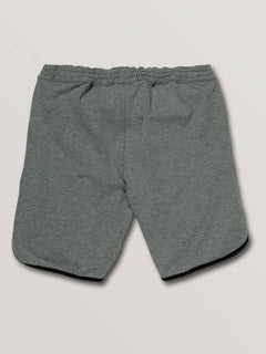 Big Boys Chiller Knit Shorts In Heather Grey, Back View