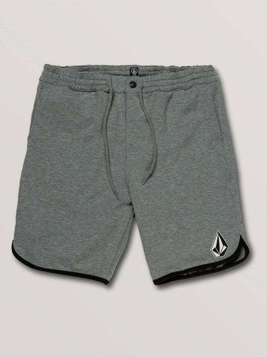 Big Boys Chiller Knit Shorts In Heather Grey, Front View