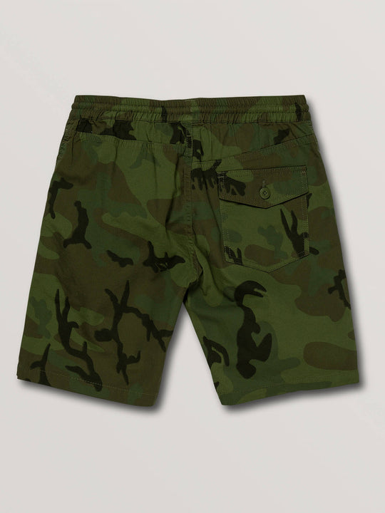 Big Boys Deadly Stones Shorts In Camouflage, Back View