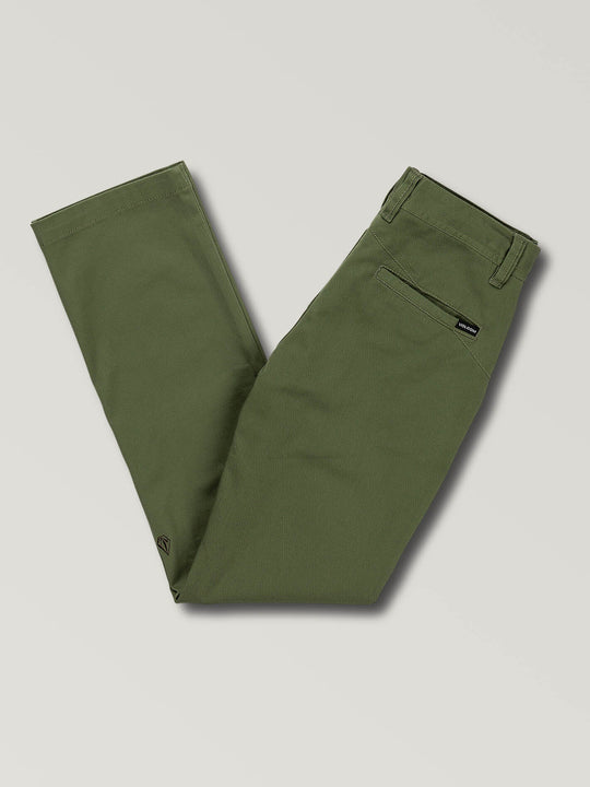 Big Boys Frickin Modern Stretch Chino Pants In Squadron Green, Back View