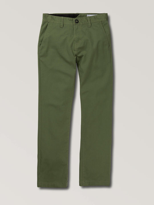 Big Boys Frickin Modern Stretch Chino Pants In Squadron Green, Front View