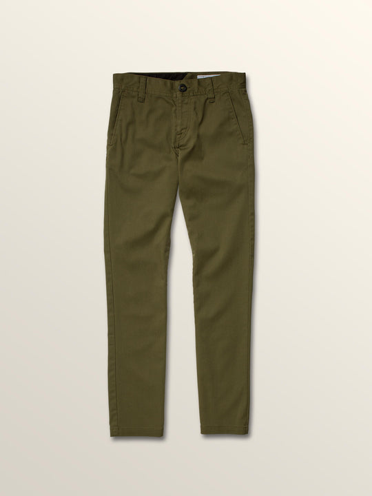 Big Boys Frickin Modern Stretch Chino Pants In Vineyard Green, Front View