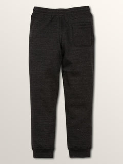 Sngl Stone Flc Pant In Sulfur Black, Back View