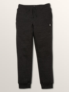 Sngl Stone Flc Pant In Sulfur Black, Front View