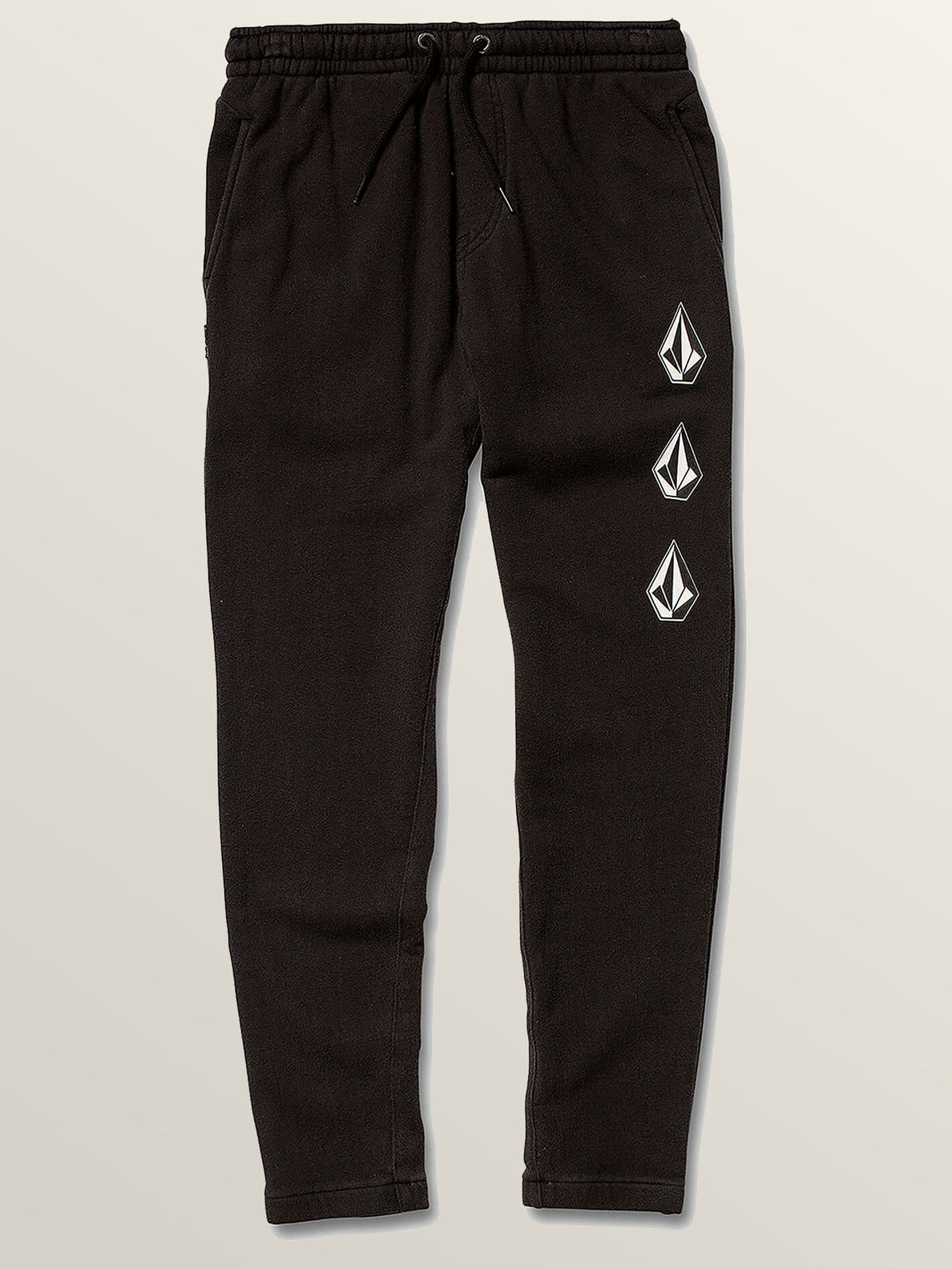 Big Boys Deadly Stones Pants In Black, Front View