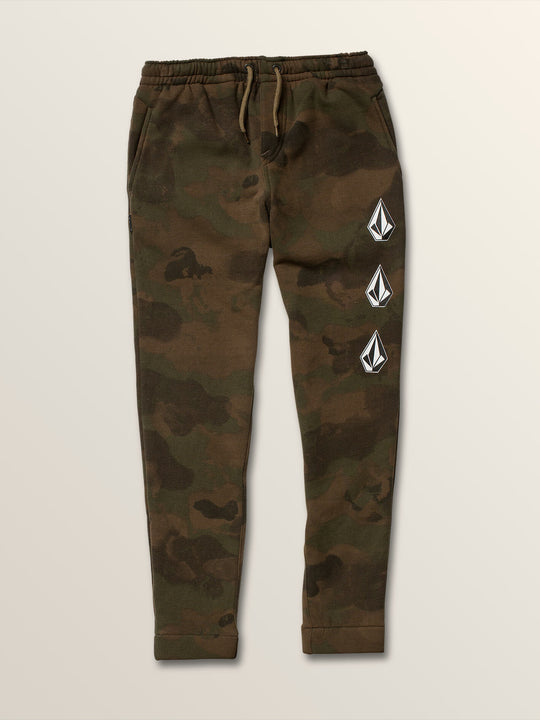 Big Boys Deadly Stones Pants In Camouflage, Front View