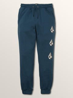 Big Boys Deadly Stones Pants In Navy Green, Front View