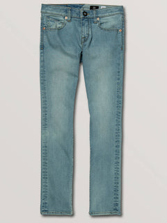 Big Boys 2X4 Skinny Fit Jeans In Allover Stone Light, Front View
