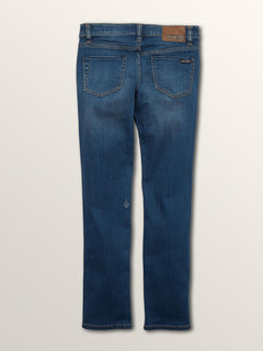 Big Boys 2X4 Skinny Fit Jeans In Dust Bowl Indigo, Back View
