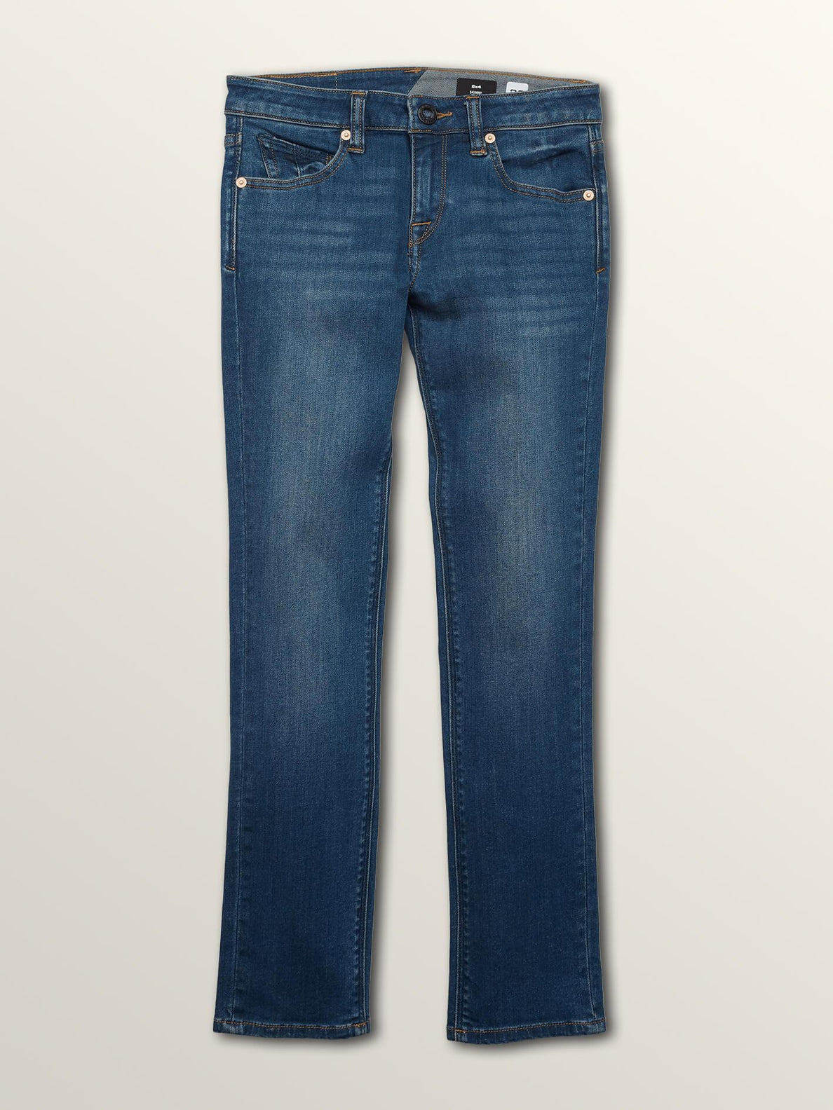Big Boys 2X4 Skinny Fit Jeans In Dust Bowl Indigo, Front View