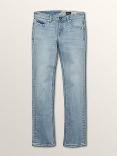 Big Boys Vorta Slim Fit Jeans In Allover Stone Light, Front View