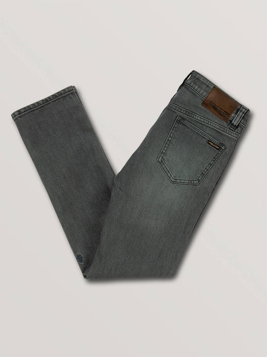 Big Boys Vorta Slim Fit Jeans In Grey Vintage, Back View