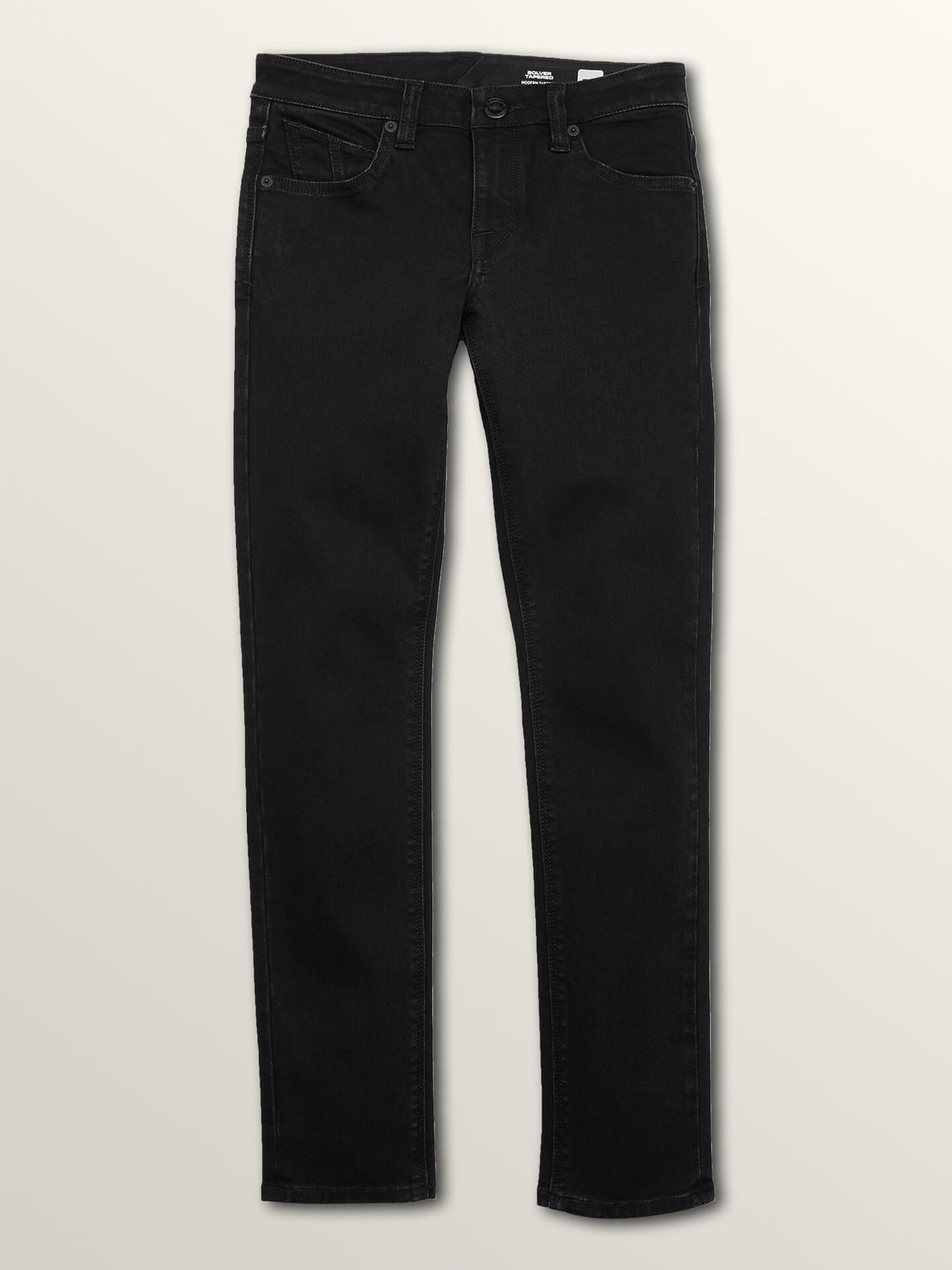Big Boys Solver Modern Tapered Jeans In Blackout, Front View