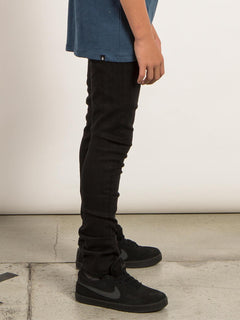 Big Boys Solver Modern Tapered Jeans In New Black, Second Alternate View