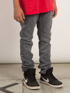 Big Boys Solver Modern Tapered Jeans In Power Grey, Alternate View