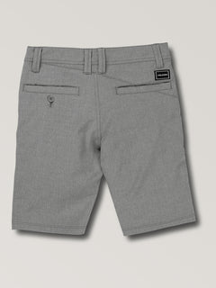 Big Boys Surf N' Turf Static Hybrid Shorts In Gunmetal Grey, Back View