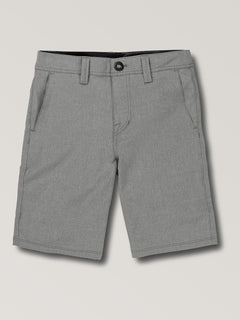 Big Boys Surf N' Turf Static Hybrid Shorts In Gunmetal Grey, Front View
