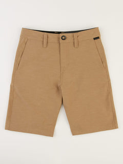 Big Boys Frickin Surf N' Turf Slub Hybrid Shorts In Sand Brown, Front View