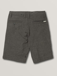 Big Boys Frickin Surf N' Turf Static Hybrid Shorts In Charcoal Heather, Back View